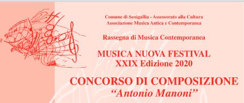 """Concorso di Composizione """"Antonio Manoni"""""""